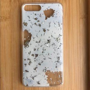 Accessories - NEW Iphone 7/8 White Silver Sparkle Case